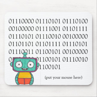 Tapis de souris mignon de robot