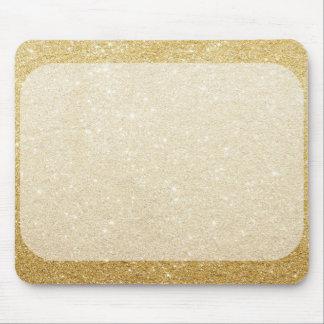 Tapis De Souris modèle de blanc de scintillement d'or pour la