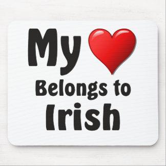Tapis De Souris Mon coeur appartient à l'Irlandais