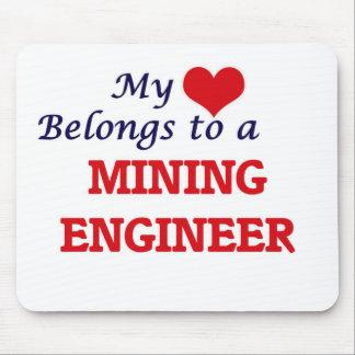 Tapis De Souris Mon coeur appartient à un ingénieur des mines
