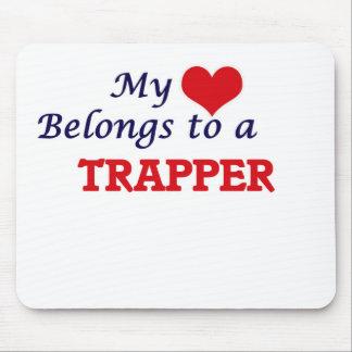 Tapis De Souris Mon coeur appartient à un trappeur