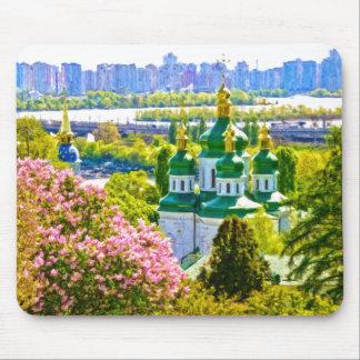 Tapis De Souris Monastère de Vydubitsky. Kiev, Ukraine