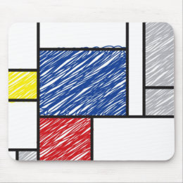 tapis de souris mondrian personnalis s. Black Bedroom Furniture Sets. Home Design Ideas