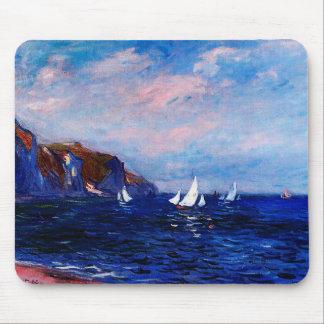 Tapis De Souris Monet-Falaises et voiliers de Claude chez
