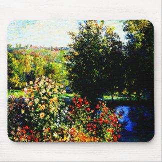 Tapis De Souris Monet-Roses de Claude dans le jardin chez