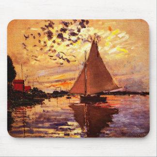 Tapis De Souris Monet-Voilier de Claude chez Le