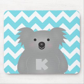 Tapis De Souris Monogramme mignon d'ours de koala de bébé de