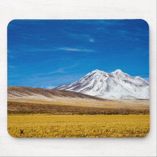 Tapis De Souris Montagnes couronnées de neige et prairie de Puna