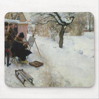 Tapis De Souris Motif Åsögatan d'hiver