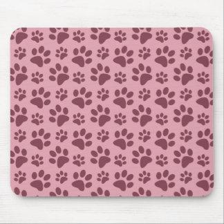 Tapis De Souris Motif assez rose d'empreinte de patte de chien