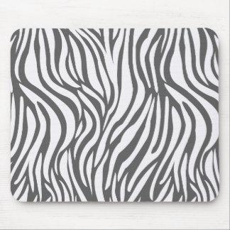Tapis De Souris Motif blanc de zèbre - modèle animal géométrique