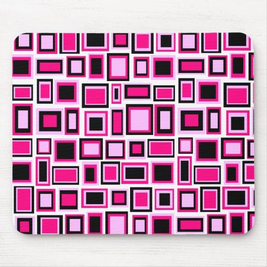 Tapis de souris motif carrés abstrait