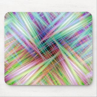 Tapis De Souris Motif coloré de traînées de lumière
