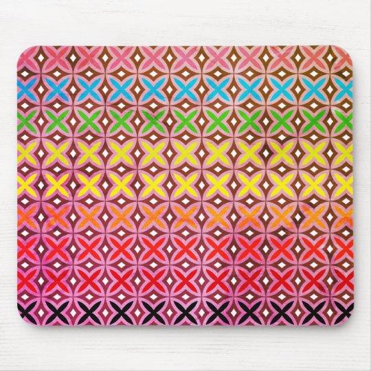 Tapis de souris motif croix abstrait multicolore