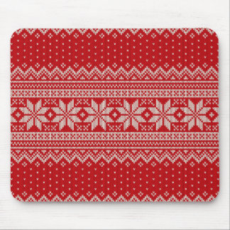 Tapis De Souris Motif de tricot de chandail de Noël - ROUGE