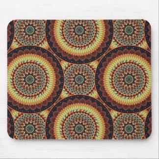 Tapis De Souris Motif floral ethnique abstrait coloré de mandala