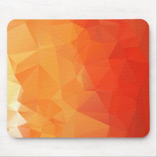 Tapis De Souris Motif orange et rouge de facette