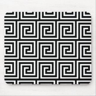 Tapis De Souris Motif principal grec noir et blanc
