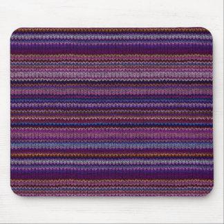 Tapis De Souris Motif tricoté coloré