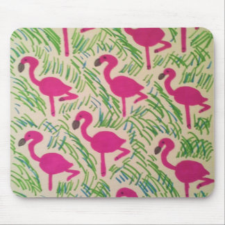 Tapis De Souris Motif tropical de flamants roses