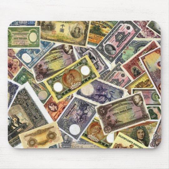 tapis de souris mousepad billets de banque rares. Black Bedroom Furniture Sets. Home Design Ideas