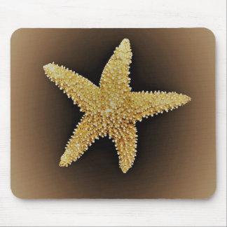Tapis De Souris mousepad brun d'arrière - plan d'étoiles de mer