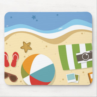 Tapis De Souris Mousepad de ballon de plage et de substance