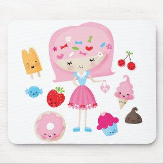 Tapis De Souris Mousepad de fille de Harajuku Kawaii