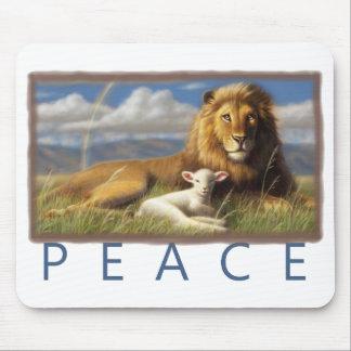 Tapis De Souris Mousepad de lion et d'agneau de paix