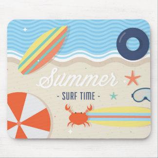 Tapis De Souris Mousepad de temps de surf d'été