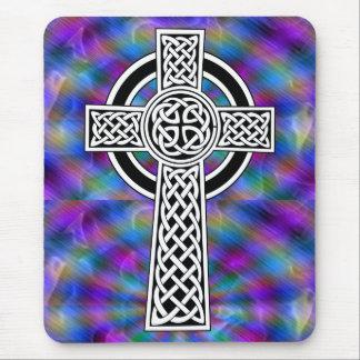 Tapis De Souris mousepad de vague de croix celtique
