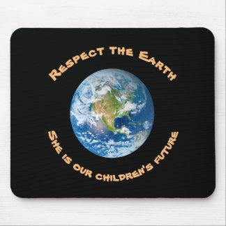Tapis De Souris Mousepad des enfants de respect de la terre de