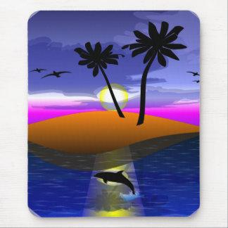 Tapis De Souris Mousepad d'île de dauphin