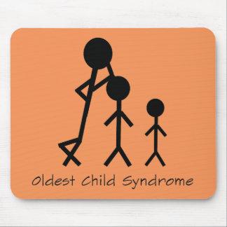 Tapis De Souris Mousepad drôle du syndrome d'enfant le plus ancien