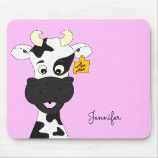 Tapis De Souris Mousepad fait sur commande de filles de vache de