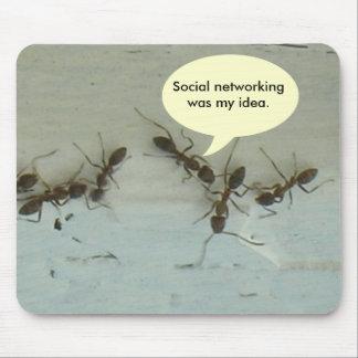 Tapis De Souris Mousepad - la mise en réseau sociale était mon