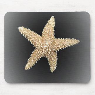 Tapis De Souris mousepad noir d'arrière - plan d'étoiles de mer