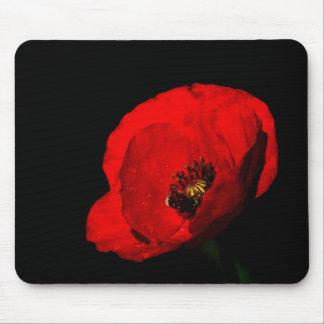 Tapis De Souris Mousepad rouge de pavot