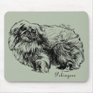 Tapis De Souris Mousepad vintage d'illustration de chien de