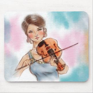 Tapis De Souris Mousepad vintage original d'art - violon