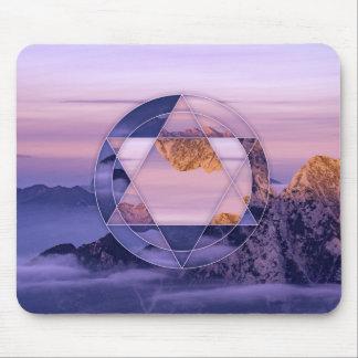Tapis De Souris Mouspad abstrait de paysage de montagne