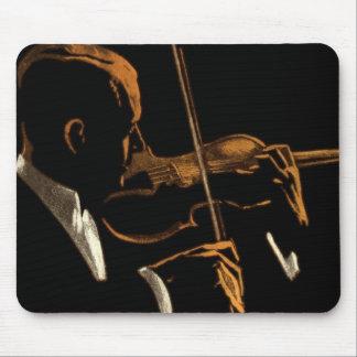 Tapis De Souris Musicien vintage, violoniste jouant la musique de