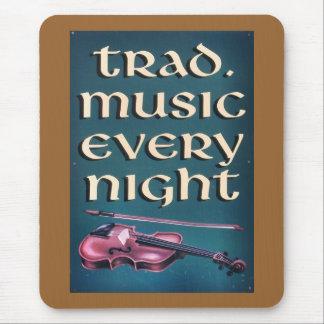 Tapis De Souris Musique irlandaise Mousepad