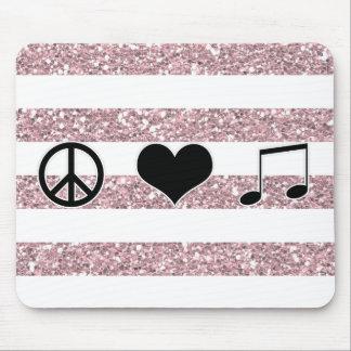 Tapis De Souris Musique Mousepad d'amour de paix