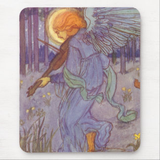 Tapis De Souris Musique vintage, ange jouant un violon dans une