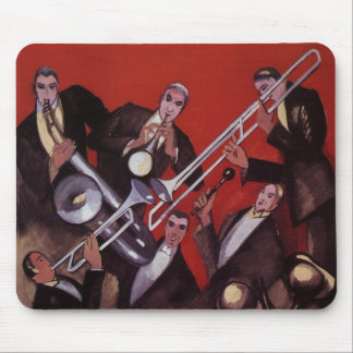 Tapis De Souris Musique vintage, bloquer musical de jazz-band