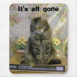 Tapis De Souris N'a triste aucun chat Meme de pizza