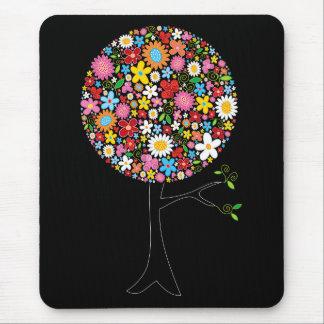 Tapis De Souris Nature colorée lunatique d'arbre de bruit de