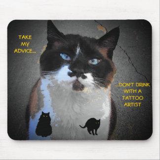 Tapis De Souris Ne buvez pas et n'obtenez pas les tatouages Meme