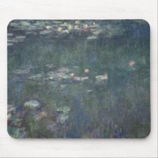 Tapis De Souris Nénuphars de Claude Monet   : Réflexions vertes